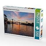 CALVENDO Puzzle Kaiser Wilhelm Brücke im Sonnenuntergang 1000 Teile Lege-Größe 64 x 48 cm Foto-Puzzle Bild von Andrea Dreegmeyer