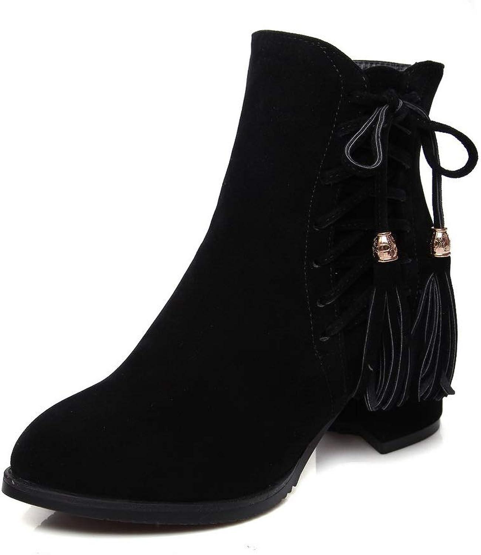 AdeeSu Womens Solid Structured Huarache Urethane Boots SXC02726