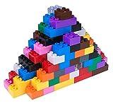 Set n.° 3 de Ladrillos Big Briks para Construir - 204 Piezas - Compatible con Todas Las Grandes Marcas - Tacos Grandes - Azul, Verde, Rojo, Amarillo, Negro, marrón y más
