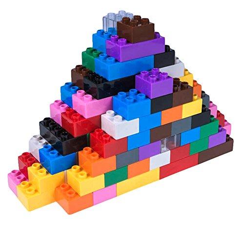 Strictly Briks - Premium-Bausteine - kompatibel mit großen Bausteinen Aller führenden Marken - nur für Steine mit großen Noppen geeignet -204 Stück - Blau, Grün, Rot, Gelb, Schwarz, Braun und mehr
