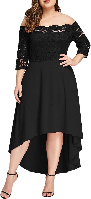 kingko® Damen Kleider Elegant Spitzenkleid 9/9 Ärmel Cocktailkleid ...