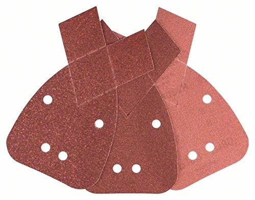 Bosch 2 609 256 A72 - Juego de hojas de lija de 6 piezas para lijadora múltiple
