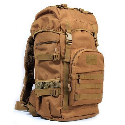 YYY-Un nuovo giorno zaino di medie dimensioni uomini e donne viaggi viaggio zaino outdoor bagagli borsa mimetica zaino militare fan pack capacità 50l , wolf brown
