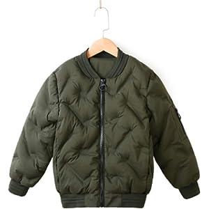 [イダク] 子供服 秋冬 MA-1 ダウンジャケット 日系 登山 防風 防寒 暖かい かっこいい 長袖 おしゃれ トップス 通勤 通学グリーン160cm