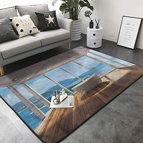 "Non-Slip Modern Carpet Bathtub and Islands 48""x 60"" Best Floor mats"