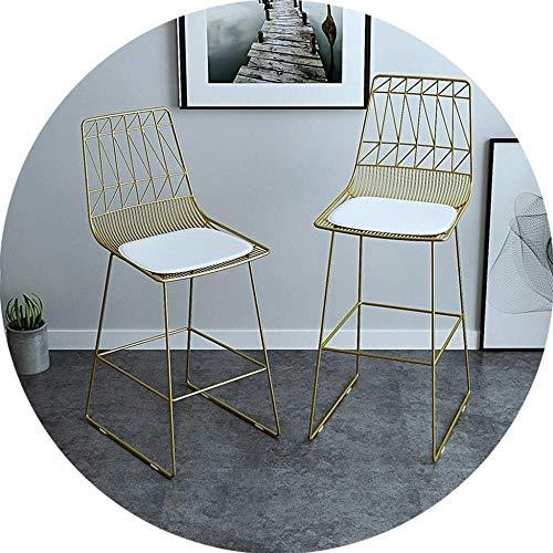 GAOLILI Stuhl Bürostuhl Bürostühle, On-Trend Küche und Frühstück Barhocker Set von 2 Stück Stab-Stuhl Doppel Makeup Hocker Zähler Pub Café Europäische Moderne Sitzhöhe (Color : Gold, Size : 65Cm)