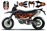 FIRE High gloss Race-styles - Kit di adesivi per KTM SMC R Enduro 690 2019 2020| Factory DEKOR Decals