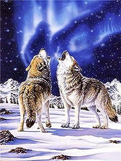 Diamant Borduurwerk Wolf Diamant Schilderij Dierlijke Kruissteek Volledige Vierkante Ronde Mozaïek Strass Foto Woondecorat...