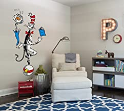 "Designer Playground Cat Juggling On Ball Vinyl Wall Decal (26""W X 47""H) MT008 Red MT008-RED"