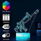 3D Festungslampe Battle Bus RGB Stimmungslampe 7 Farben Sockel Acryl Stereo Illusion LED...