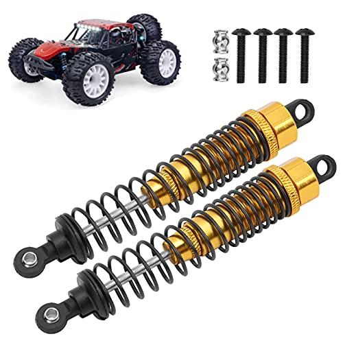 Seacanl Amortiguadores RC, Metal del Amortiguador RC con Cabeza esférica / Tornillo para Slash 2WD para Coche RC(Golden)