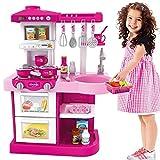 BAKAJI Cucina Giocattolo per Bambini con Fornello Funzionante Luci e Suoni Forno e Lavastoviglie Apribili Lavello e 30 Accessori...