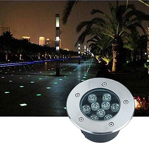 AMDHZ Bodenleuchte Unterirdische LED-Licht Embedded Wasserdicht AC 111V ~ 240V Energiespar Highlight Außendekoration verwendet for Treppen Terrasse, 7 Farben, 9 Arten von Macht