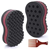 HALLO Big Holes & Big Size Barber Hair Brush Sponge Dreads Locking Twist Afro Curl Coil Wave Hair Care Tool(1 Pack)