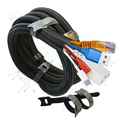 Organizador de Cables de Mesa - 2 Pack Funda Junta Cables Eléctricos...