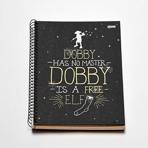 Caderno Espiral Capa Dura Universitário 1 Matéria Harry Potter Dobby FSC 96 Folhas, Jandaia