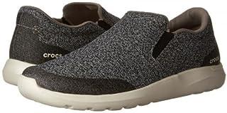 [クロックス] メンズ 男性用 シューズ 靴 スニーカー 運動靴 Kinsale Static Slip-On - Charcoal/Pearl White [並行輸入品]