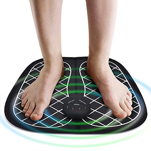 ZWMM FußMassage Matte, Elektromagnetische FußMassagegeräTe Impulse FußPflege Kissen Intelligente Physiotherapie MassagegeräT Shiatsu FußMassagegeräT M