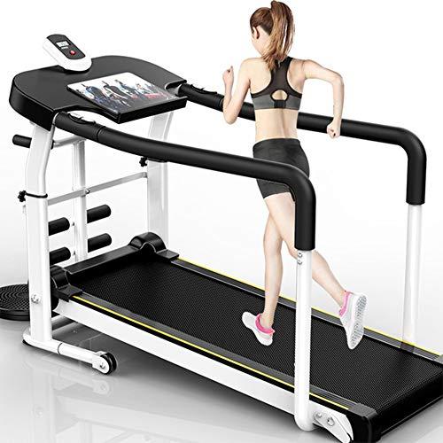 BCCDP Laufband Klappbar Mit Reha-Griff Leise Laufbänder Heimrehabilitations Laufband Für Ältere Und Behinderte Menschen mit Haltegeländer Herzfrequenztest Fitness für Senioren