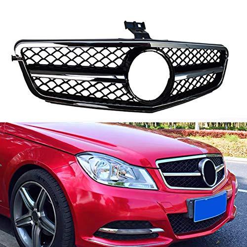 Parrilla De Carreras De Parrilla Superior Delantera De Coche para Estilo Amg C63 para Mercedes Benz Clase C W204 C180 C200 C300 C350 2008-2014