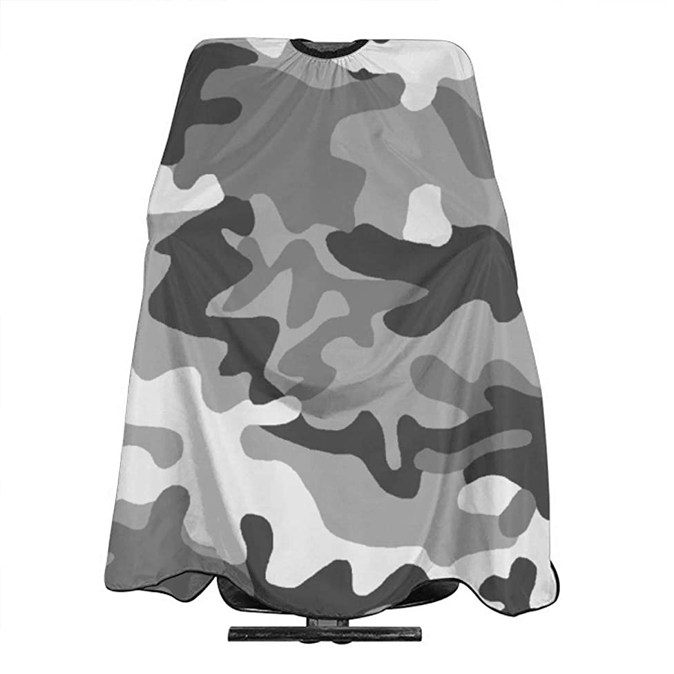 Professional Barber Cape Grey White Camo Salon Haircut Aprons Hair Styling Gown For Coloring Perming Hair Cutting Treatment Shampoo Chemical Proof Hairdresser 55