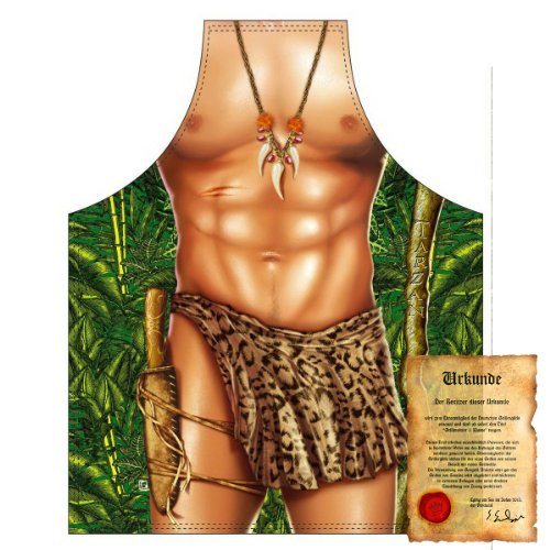 trag-das Carnaval Imprimé Tablier – Motif : Tarzan Sexy – Coole drôles Carnaval Party Barbecue Bavette Tablier fastnacht