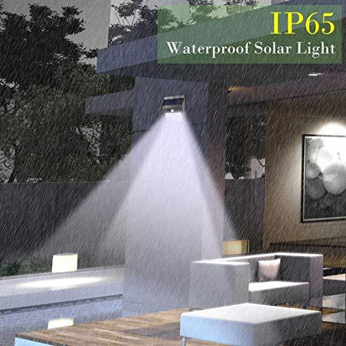 2 stuks/set 20 LED zonnelampen bewegingsmelder wandlamp buitenshuis tuin lamp waterdicht buiten licht / zwart