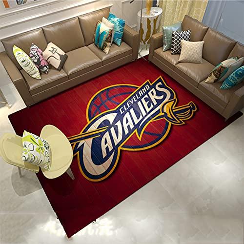 Cavaliers - Alfombras con logotipo para adolescentes, niños, baloncesto, dormitorio, poliéster, antideslizante, para salón, decoración de cavaliers, 60 x 90