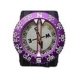 Scuba-Choice Diving Deluxe Aluminum Frame Wrist Compass, Purple