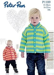 Peter Pan Baby Hooded Cardigan Knitting Pattern 1189 DK