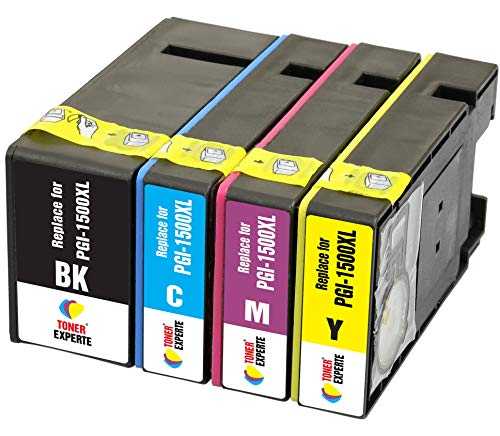 PGI-1500XL TONER EXPERTE® 4 XL Druckerpatronen kompatibel für Canon MAXIFY MB2350 MB2750 MB2755 MB2050 MB2150 MB2155 9182B001 9193B001 9194B001 9195B001 | hohe Kapazität