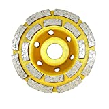 Bardland 100-2P Mola in calcestruzzo 4 pollici Doppia fila Diamante Cup rettifica ruote disco per calcestruzzo muratura pietra granito rettifica