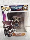 Funko-Colección Guardianes de la Galaxia, Vol. 2- Línea Pop Vinyl - Código 12788 - Figura 210 del Personaje Rocket, de Vinilo, edición Limitada, 9 cm de Altura