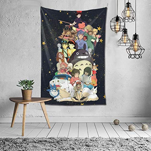 ETONKIDD Cute Characters -Studio Ghibli Tapestry Soft Durable Wall Hanging Tapestries for Living Room Bedroom Decor (60x40Inches)