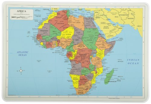 Painless Learning Sin Dolor Aprendizaje Mapa Mantel Individual, África, Multicolor, 1