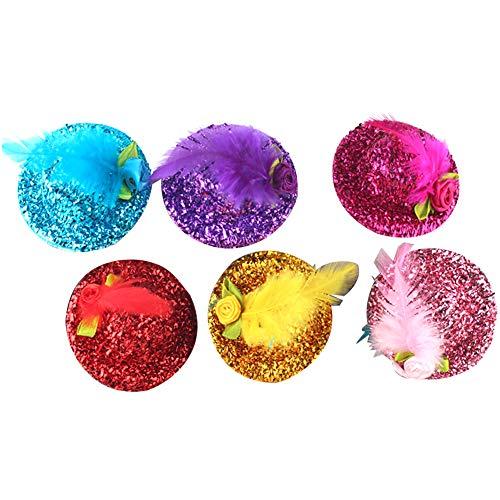 H2okp-009 6 stuks kinderen meisjes mini hoed haarspeld haarspeld bloem fascinator kinderen hoofdwear eenvoudige casual