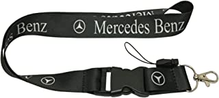 1pcs Black Color USA Ship New Quick Release Neck Strap Lanyard Keychain Keyring Car Keys House Keys ID Badges Card For Mercedes Benz Design