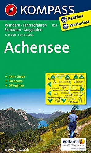 Achensee: Wanderkarte mit Aktiv Guide, Panorama, Radrouten, Skitouren und Loipen. GPS-genau. 1:35000: Wandelkaart 1:35 000 (KOMPASS-Wanderkarten, Band 27)