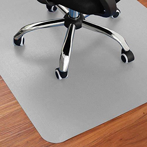 Zinn Alfombrilla extragrande para silla para suelo de madera, antideslizante, alfombrilla protectora, alfombrilla antiarañazos, almohadilla de escritorio para el hogar, oficina, fácil de limpiar