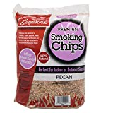 Camerons Smoking Wood Chips (Pecan) 260 cu. in. (0.004m³) - Extra Fine Kiln Dried BBQ Chips- 100% All Natural Barbecue Smoker Shavings- 2lb Bag