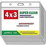 Padike CDC Vaccine Card Protector Waterproof 4 X 3 Vaccine Card Holder , Plastic Clear ID Card Holder Name Tags Badge Holders (10 PC)