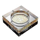 SHULING Aschenbecher Boutique-Hotel im europäischen Stil Crystal Collection Aschenbecher für...
