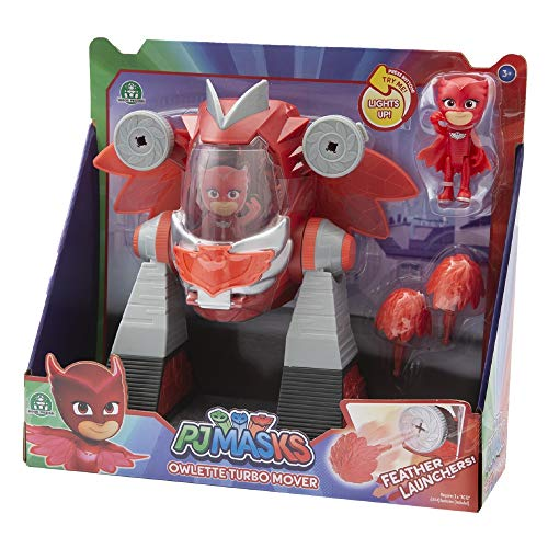 Giochi Preziosi - Pj Masks Eule Fahrzeug Turbo Movers mit Figur