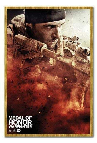 Medal of Honour Poster Warfighter, Cover Magnetische Pinnwand, Eichenholz-Rahmen, 96,5 x 66 cm (ca. 96,5 x 66 cm)
