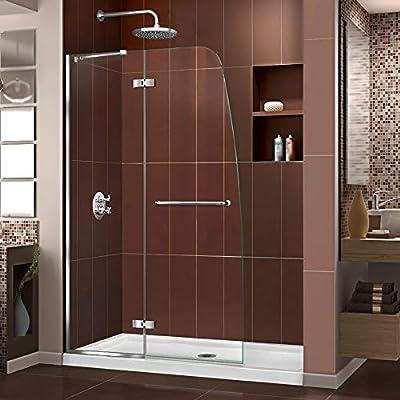 """DreamLine SHDR-3445720-01 Aqua Ultra Hinged Frameless Glass Shower Door, 45"""" W x 72"""" H, Chrome"""