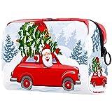 Bolsa de cosméticos para Mujeres Día de la Nieve de Navidad Santa Claus Bolsas de Maquillaje espaciosas Neceser de Viaje Organizador de Accesorios