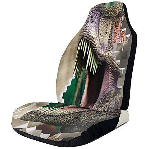 Alice Eva Sièges de voiture couverture dinosaure passe mur dents de dinosaure sièges avant couverture auto siège protecteur pour vus