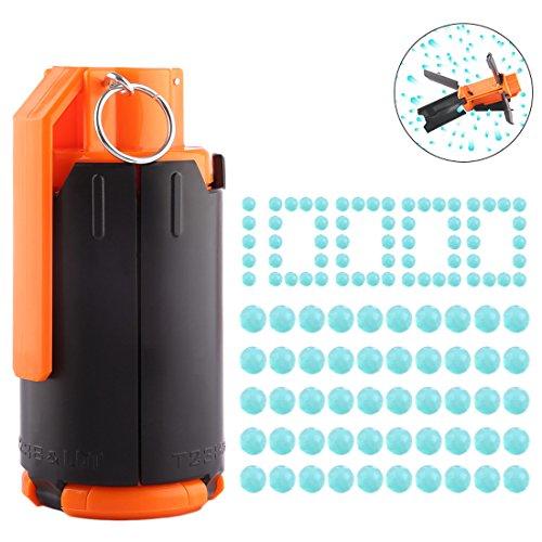 GODNECE Handgranate für Nerf Granaten Wasserkugeln T238 Wasserbomben Bombe mit Pfeilen 1000er 7,4MM Wasserperlen Pfeile für Nerf Rival CS