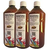 3 x 1L Líquido Látex Natural Látex 3000 ml Máscaras creadoras Manualidades Leche Látex 1 L Givul, vorvulkanisiert