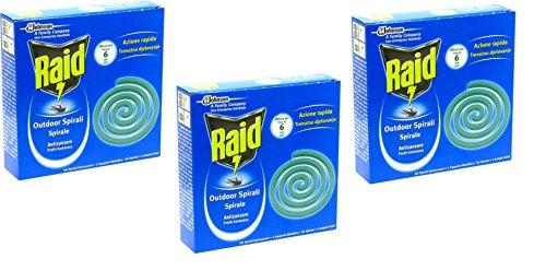 Raid IRPot – Lot de 100 Spirales anti-moustique, 10 boîtes